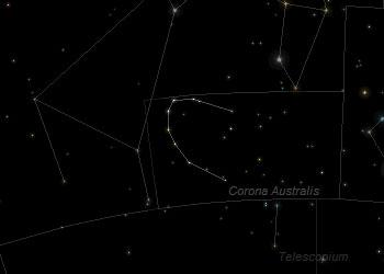 Constellation Corona Australis Frosty Drew Observatory