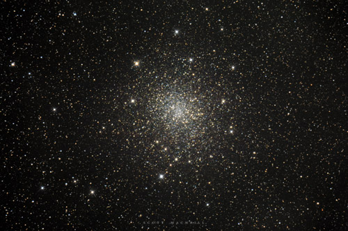 <p>Messier 22 is a huge globular star cluster residing at only 10,600 light years distant, making M22 one of the closer globular clusters to Earth. An elliptical globular cluster, M22 is near 100 light years in diameter. Messier 22 is one of the best summer time globular clusters visible in the northern hemisphere and likely the first globular cluster to be discovered. </p><p>We snapped this shot of Messier 22 on June 24, 2015 at Frosty Drew.</p>
