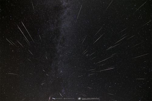 The 2015 Perseid Meteor Shower radiant point at Frosty Drew Observatory.