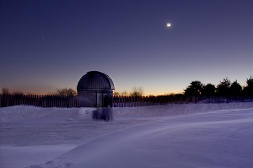 Winter nights at Frosty Drew Observatory are cold and full of stars!