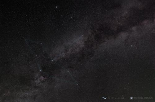 Cygnus in the Summer Triangle over Frosty Drew Observatory