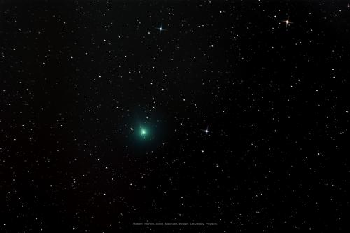 This Comet C/2019 Y4 Atlas captured on March 27, 2020 by Brown University's Robert Horton and processed by Scott MacNeill.
