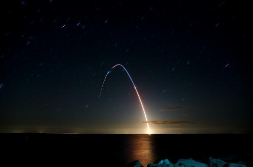 LADEE Launch seen from Point Lookout State Park in Md. Credit: Andrew Albosta