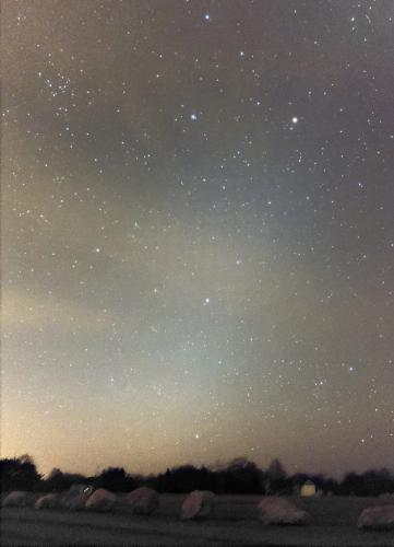 Zodiacal Light as seen over Ninigret Park, Charlestown, Rhode Island. Photo: Scott MacNeill