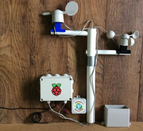 A custom weather station made with a Raspberry Pi, weather sensors, and enclosure, and creativity!