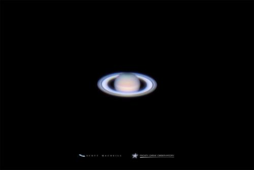 Saturn at opposition in 2015. Image: Scott MacNeill, Frosty Drew Observatory