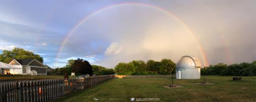 A fabulous rainbow over Frosty Drew Observatory