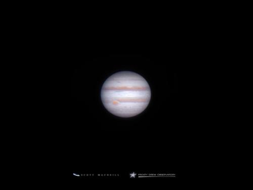Jupiter, with the Great Red Spot in view, captured at Frosty Drew Observatory