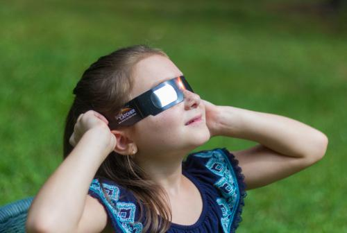 ISO 12312-2:2015 certified Eclipse Glasses will keep your eyes safe when looking at the Sun.