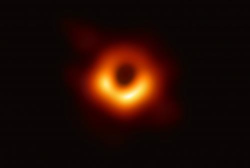 The first image of a black hole's event horizon. Credit: Event Horizon Telescope Collaboration