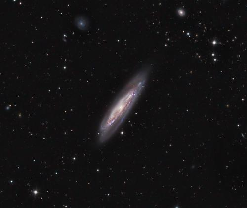 Messier 98. Image Credit: <a href='http://www.feraphotography.com/?referer=frostydrewobservatory' title='Bob and Janice Fera' target='new'>Bob and Janice Fera</a>. Used with permission.